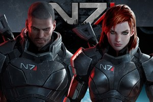 two versions of Commander Shepard